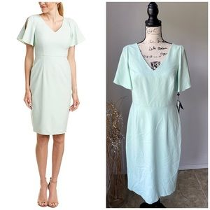 Adrianna Papell NWT Dress Jet Mint Cold Shoulder